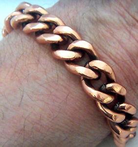 Copper-Bracelet-9-1-8-034-Linked-Wheeler-Sciatcia-Arthritis-Healing-Folklore-cb-292