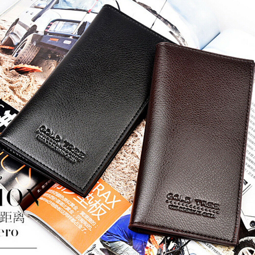 1pc Mens Wallets Simple Money Clip Long Wallet for SIM Card Bill Credit Cards