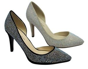 Women-039-s-Pumps-Rhinestone-High-Heel-Pointed-Toe-Stilettos-Shoes-Dress-Party-Sizes
