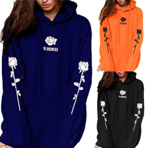 Fashion Women's Long Sleeve Loose Casual Hooded Hoodie Coat Pullover Top S-5XL