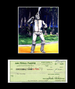 WOW! Jack Haley Signed Check Tin Man Wizard of Oz w/Photo & 11x14 Mat PSA/DNA