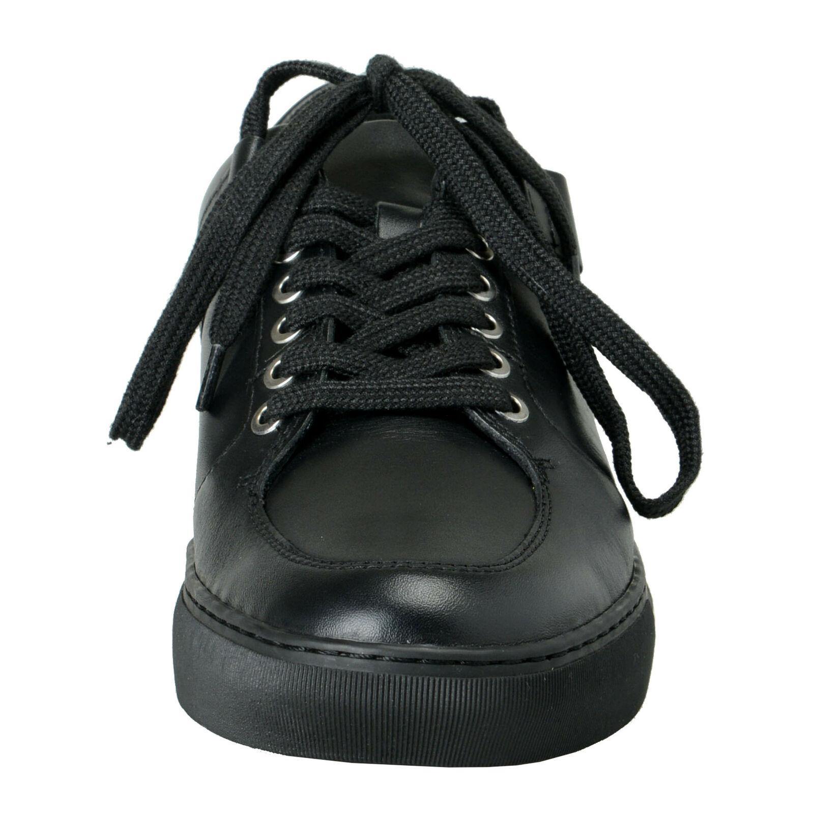 Versace Versace Versace Collection Men's nero Leather Fashion scarpe da ginnastica scarpe 6 7 8 9 10 11 695400