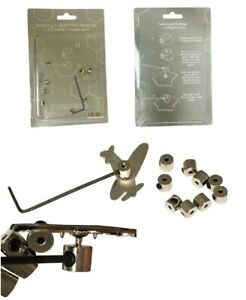 10-PIN-BADGE-KEEPERS-LOCKS-REPLACES-BUTTERFLY-BACKS-PRE-FITTED-ALLEN-SCREWS