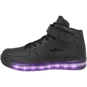 2b3c1bbb KangaROOS K-LID Schuhe LED High Top Sneaker jet black K-Lab K-Lev Hi ...