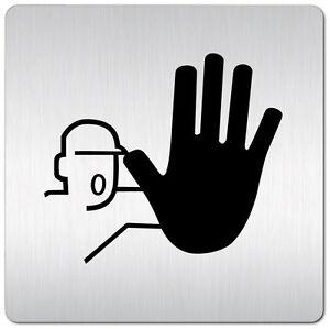"""Aluminium Schild /""""Büro/"""" • 125 x 125 mm • Privat • Tür • Stop • Alu • Türschild"""