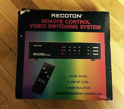 NEW IN BOX VINTAGE Recoton V640 Remote Control Video Switching System REDUCED!