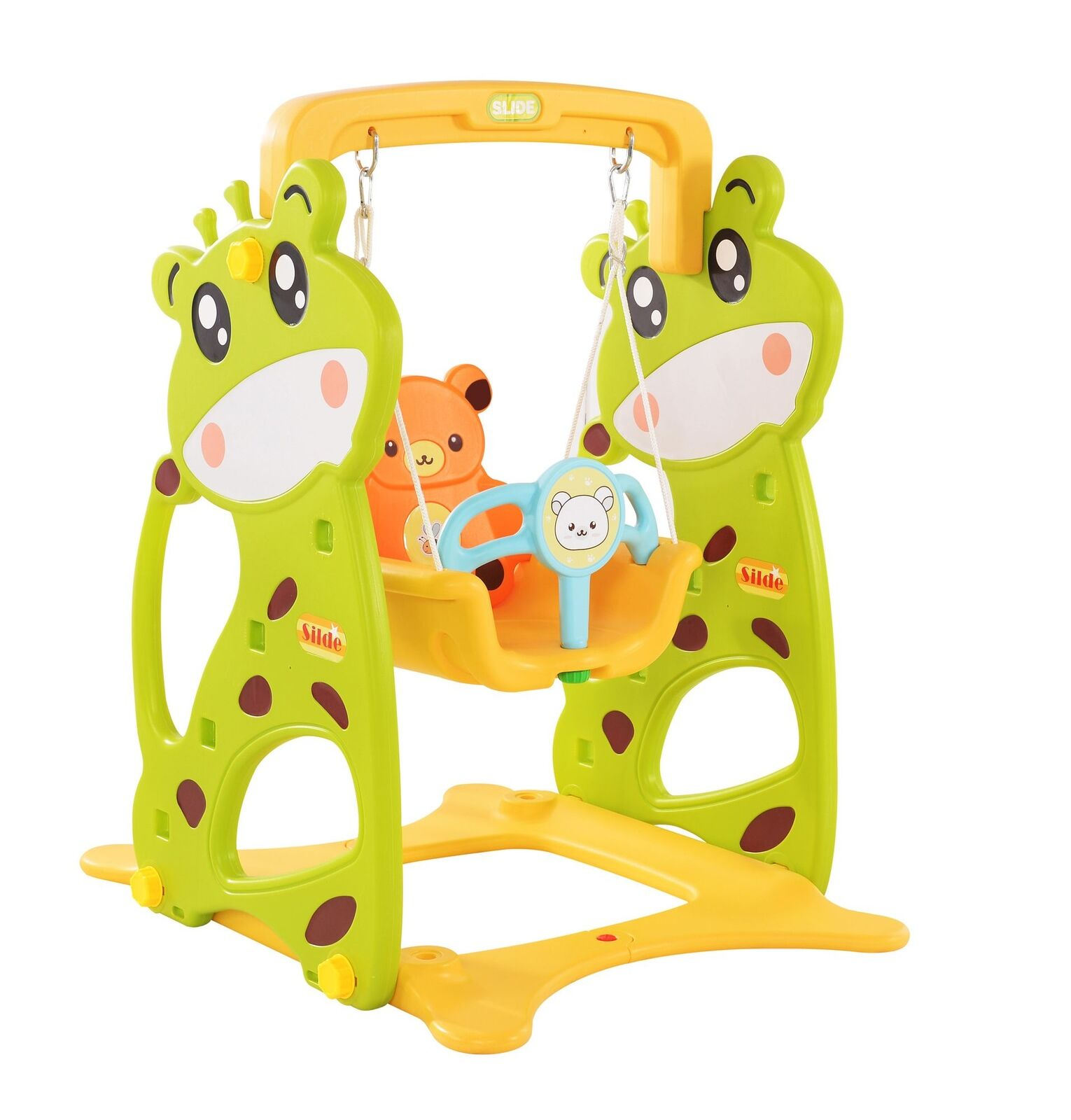 Kinder Schaukel Babyschaukel draußen stabil Ausführung Innen Clamaro Crazy Zoo