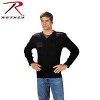 Wool V-neck Sweater, Police Law Enforcement Security G.i Type Navy Blue Rothco