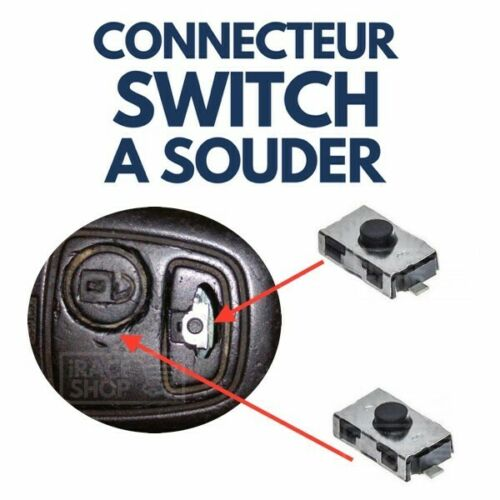 2x Switch bouton pour Clé Télécommande Plip OPEL Astra Corsa Zafira Vectra Combo