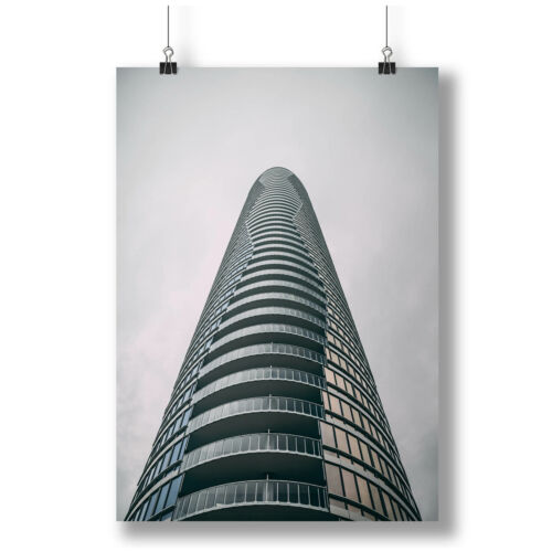 Modern And Tall Corner Building A0 A1 A2 A3 A4 Satin Photo Poster a3893h