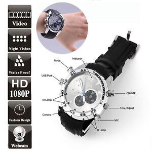Waterproof-16GB-IR-Nachtsicht-Spy-Watch-Uhr-Digital-Kamera-Video1080P-VERSTECKTE