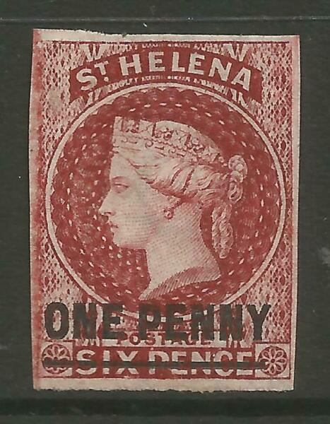 100% Vrai Stamps-st Helena. 1871. 1d On 6d Lake Surcharge Type 4c 17-18mm. Sg:8. Inutilisé