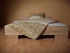 27mm Massivholz Futon Bett Massivholzbett 160x200 Fuß II Doppelbett Ehebett Holz