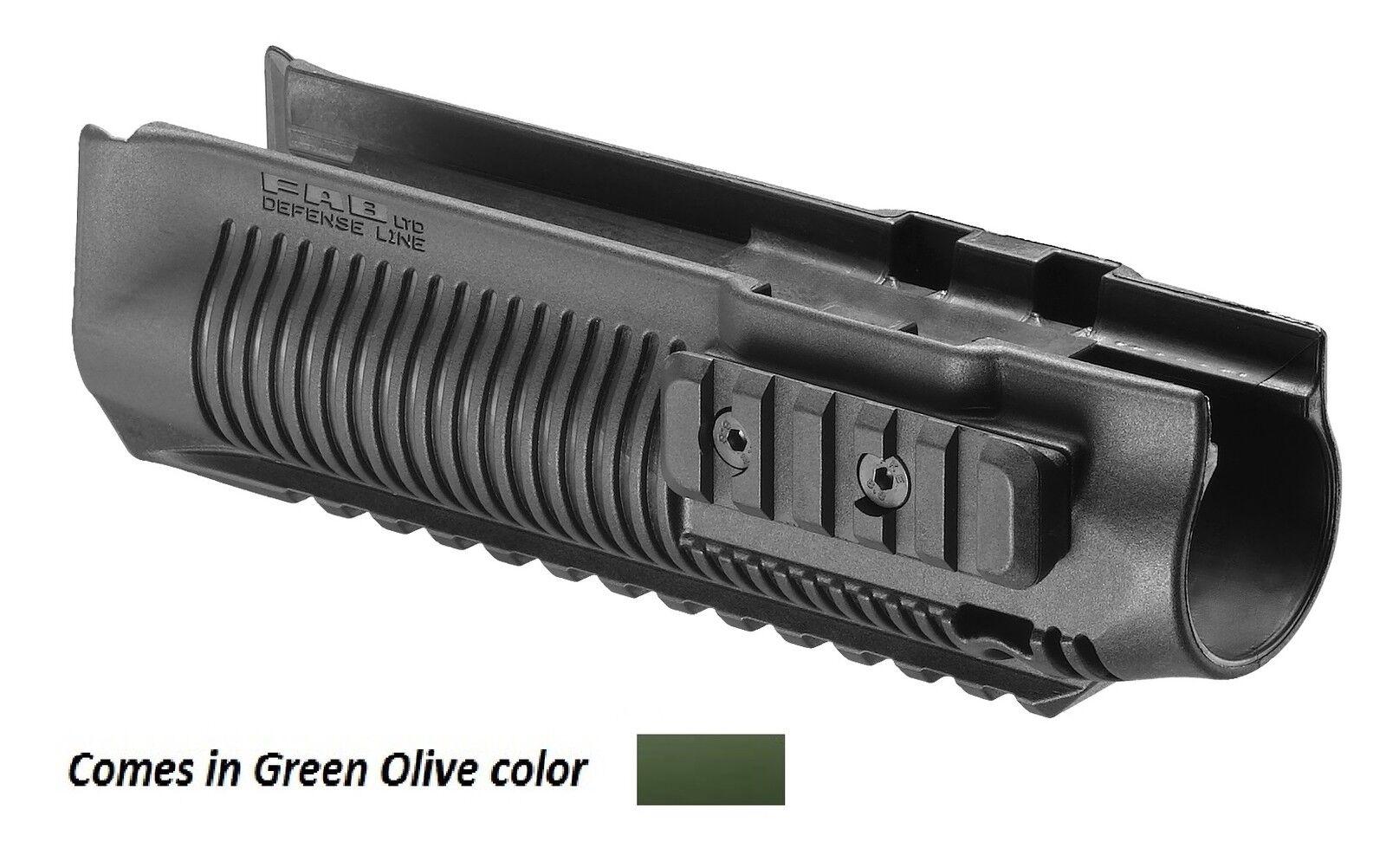 PR 870-S Fab Defense- Remington Polymer Three rail Handguards Grün Farbe
