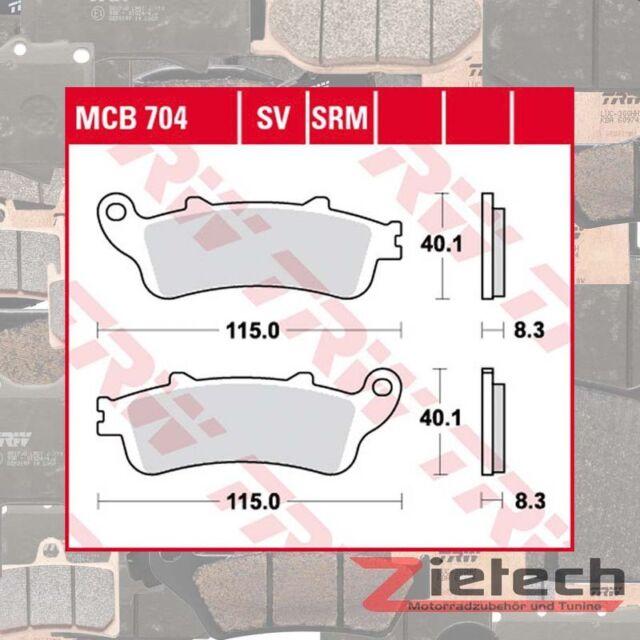 TRW Pastilla de Freno Sinter Sv MCB704SV Motocicleta