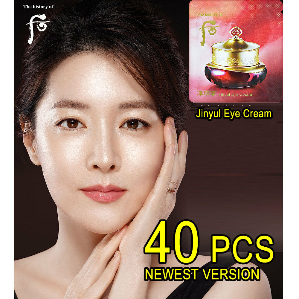 The History of WHOO Jinyulyang Jinyul Eye Cream 40ml (1ml x 40pcs) Anti-wrinkle Anti-aging Eye Cream