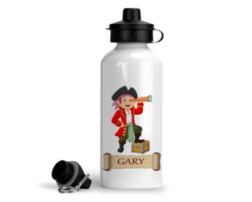Add Any Name Personalised Pirate Water Bottle 500ml Pirate Telescope