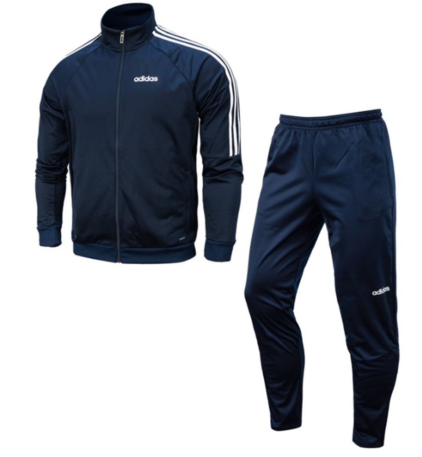 Adidas Men Sereno 19 Jackets Training Suit Set Navy Weiß GYM Jacket Pant DY3142