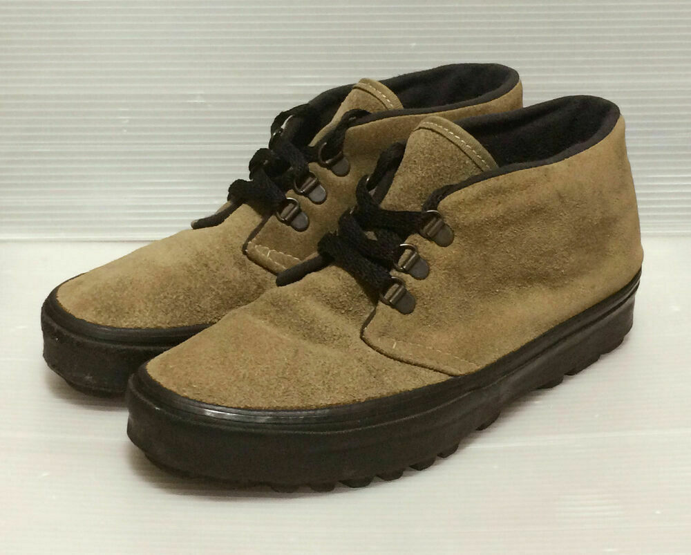 VANS chukka Suede Leather Men's shoes Size US 8.5 Made in USA Rare