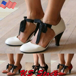 New-Womens-Kitten-Mary-Jane-Flat-Slip-On-Ballet-Sandals-Lace-Up-Round-Toe-Shoes