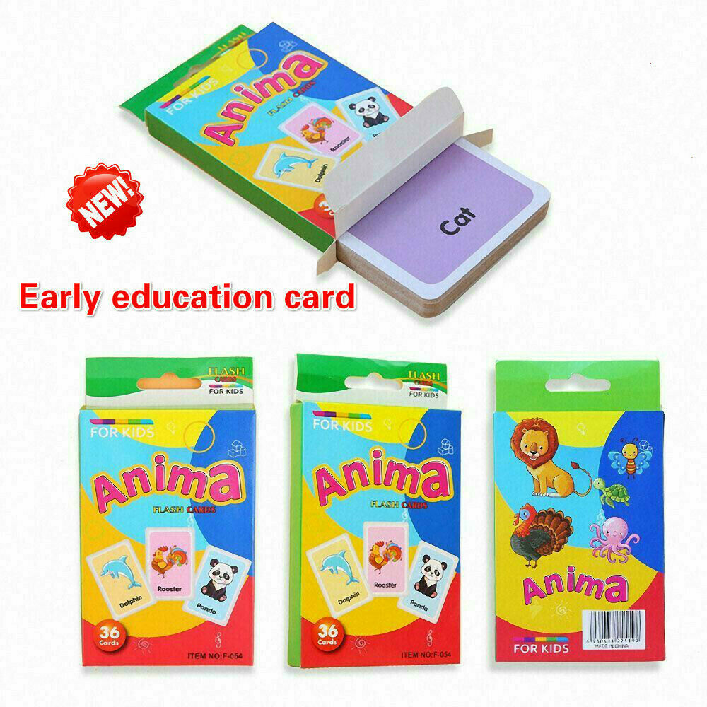 36pcs Early Learning English Number Letter Game Educational Card Kids DIY Gifts 2