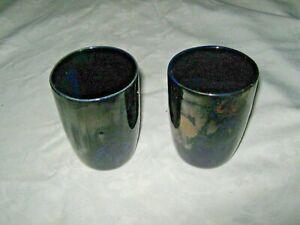 Vintage-Pair-1960-039-s-Irene-Daisy-Lucas-Daisy-Ware-Studio-Pottery-Blue-Goblets