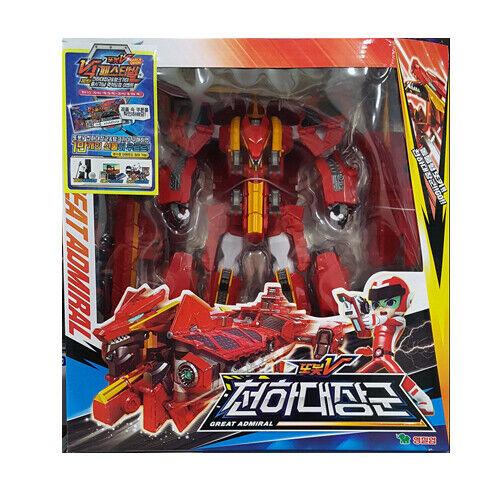 TOBOT V GREAT ADMIRAL Transformer Robot Dragon Battle Ship Toy Boy Gift