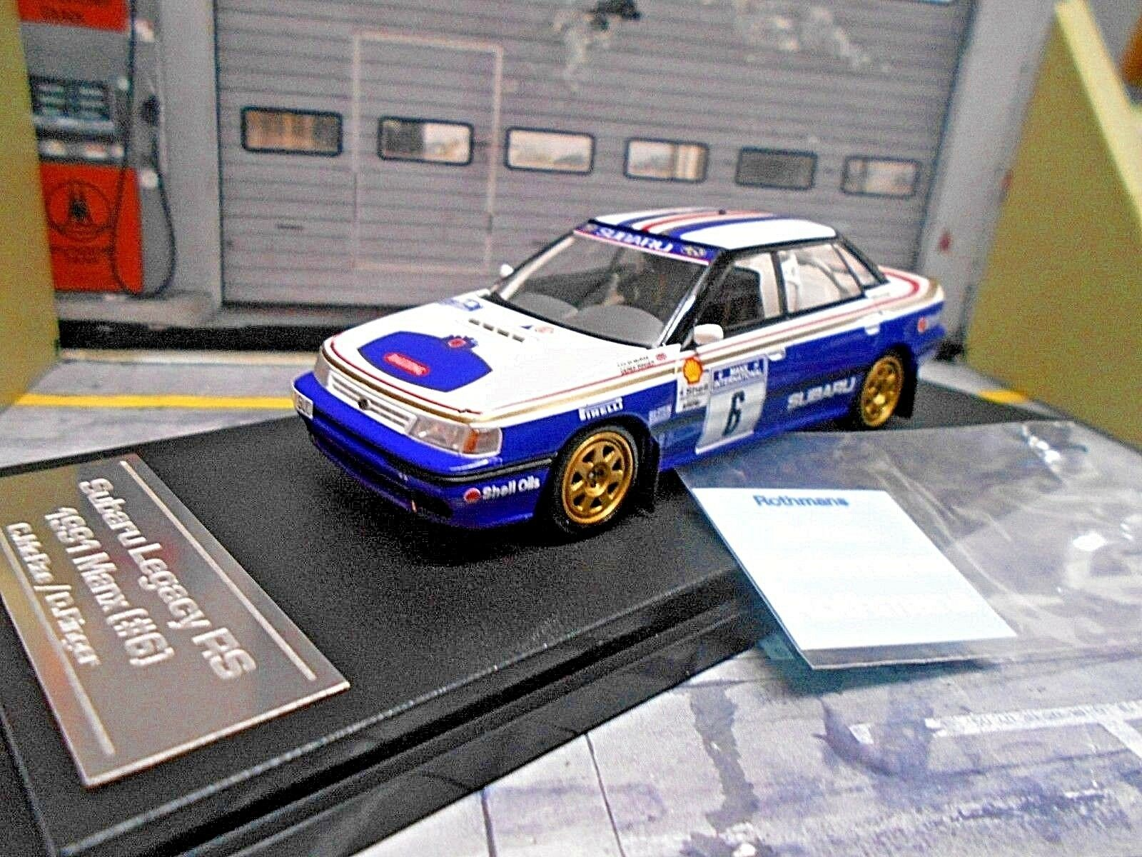 Subaru Legacy impreza RS rally Manx 1991 mcrae rossohman S + Decals hpi 1 43