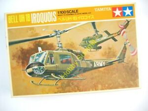 Vintage-1-100-Tamiya-US-Army-BELL-UH-1B-IROQUOIS-Helicopter-Model-Kit-PA1010