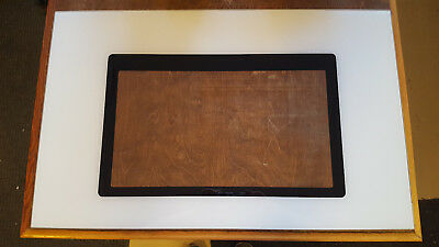 Maytag Oven Door Glass White W Black Around Window 18 5 8
