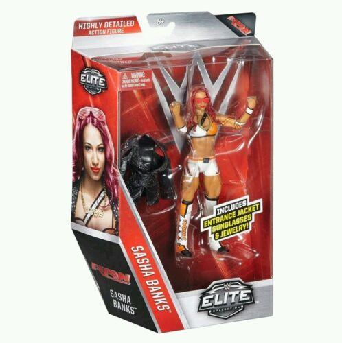 WWE Elite wrestling figure Sasha Banks series 44 Mattel new//sealed wwf moc
