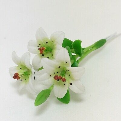 Clay Flower Yellow Impala Lily Plant Dollhouse Miniature 1:12 Garden Accessory