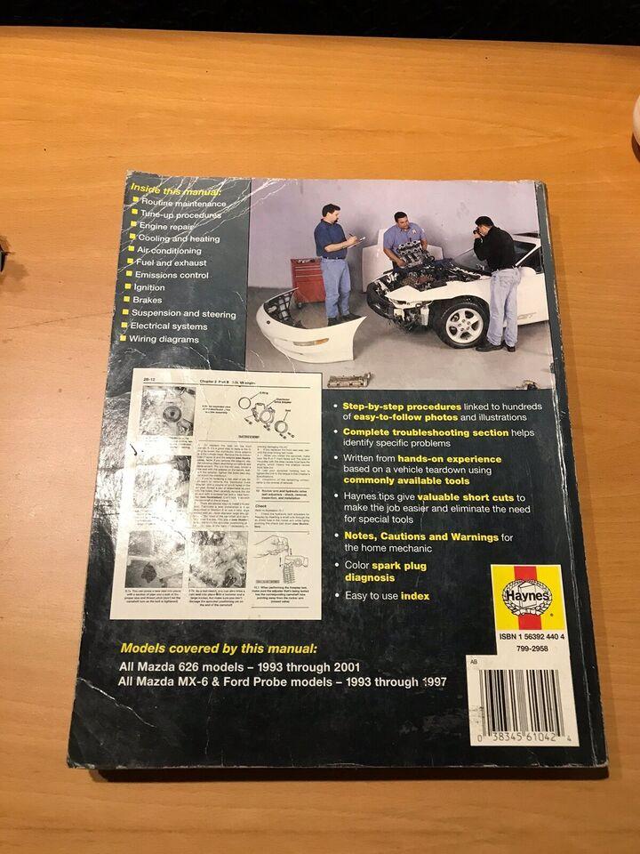 Reparationshåndbog, Mazda 626 & MX-6 , Ford Probe
