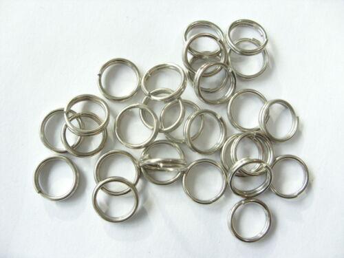 28 Edelstahl Spaltringe Oesen  Federringe Ring 10 mm