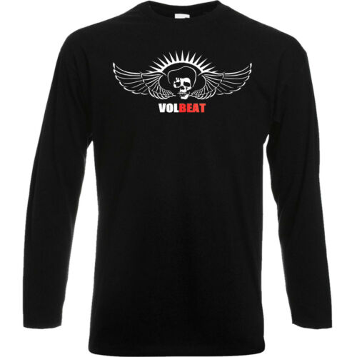 Volbeat Heavy Metal Band Logo Long Sleeve Black T-Shirt Size S to 3XL