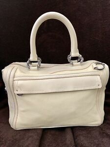 Trussardi-Ivory-Deerskin-Soft-Boston-Doctor-Leather-Hand-Bag-Women