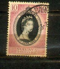 1953 Malaya Malaysia Johor 10c Coronation