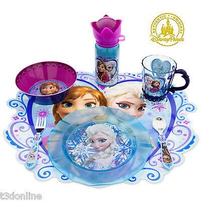 DISNEY FROZEN ANNA ELSA CUP / CUTLERY / BOWL / PLATE / BOTTLE / PLACEMAT GENUINE