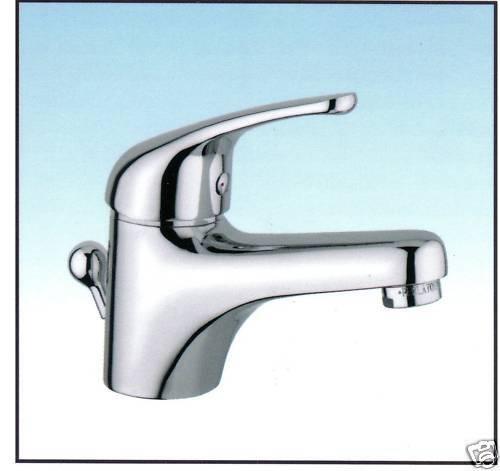 Einhebelmischer Waschtischarmatur m. Ablaufgarnitur 11 4  AqvaBasic II chrom
