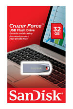 SanDisk 32GB Cruzer FORCE USB 2.0 Flash Pen Thumb Drive SDCZ71-032G-B35 32 G B