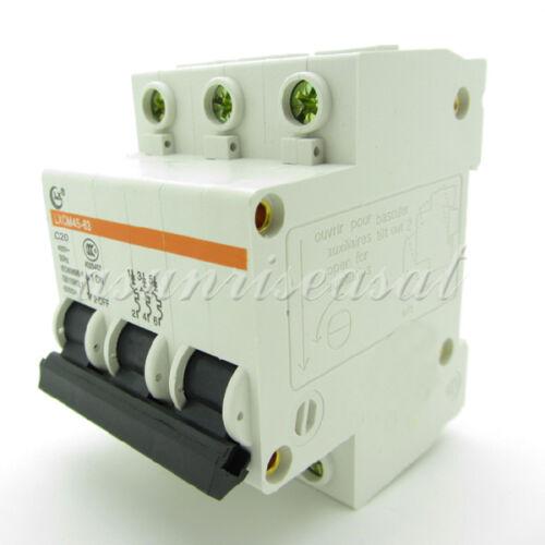 Mini Disjoncteur 3 pôle 20 A 400 V C20 DZ47-63 LXCM45-63 Surcharge Protection
