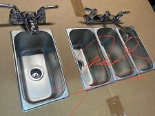 3 Standard 1 Hand Wash 4 Compartment Portable Concession Sink