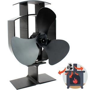 Heat-Powered-Stove-Fan-Wood-Log-Burner-Fireplace-Eco-Friendly-M-amp-W