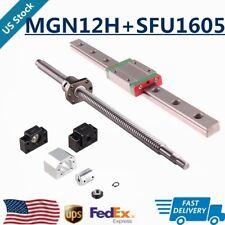 Mgn12h Linear Slide Railballscrew Sfu1605 Rm1605 250 500mm Bkbf12 Support Set