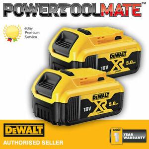 Genuine-Dewalt-DCB184-18v-XR-5ah-slide-battery-TWIN-PACK