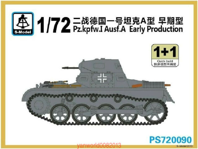 S-Model PS720089 1//72  Munitionschlepper auf Pz.kpfw.I Ausf.A with Trailer