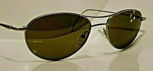 Tehama-Mens-Real-Glass-Brushed-Silver-Aviator-Sunglasses-Made-in-Italy-Spg-Hngs