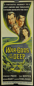 WAR-GODS-OF-THE-DEEP-CITY-IN-THE-SEA-1965-ORIG-14X36-MOVIE-POSTER-VINCENT-PRICE