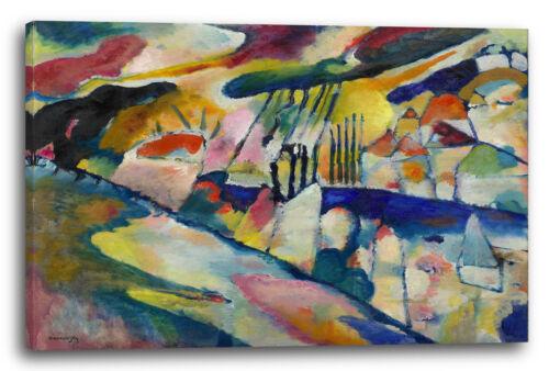 Wassily Kandinsky 1913 Landschaft mit Regen Lein-Wand-Bild Kunstdruck