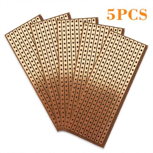 5pcs Strip Board Printed PCB Circuit Board Vero Prototyping Track Stripboard4U